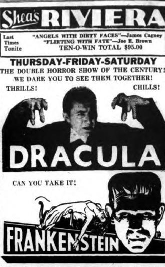 Dracula Frankenstein Double-Bill 1939
