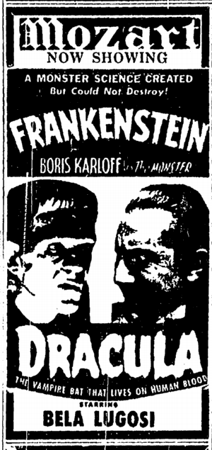Dracula Frankenstein Double-Bill Canton Repository, June 1, 1952