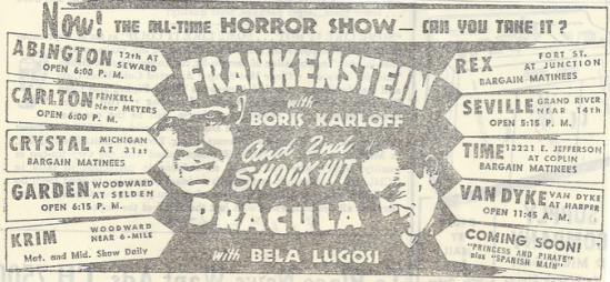Dracula & Frankenstein Double Bill September 1947 1