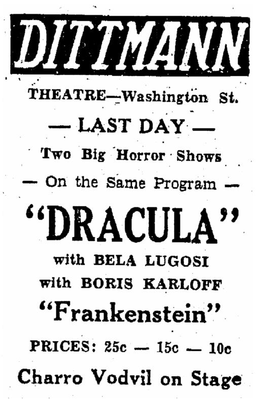 Dracula Frankenstein, Heraldo de Brownsville, December 18, 1939