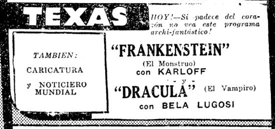 Dracula Frankenstein, Prensa, November 13, 1938 2