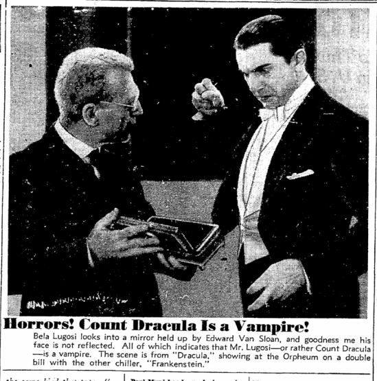 Dracula Frankenstein, San Francisco Chronicle, October 8, 1938