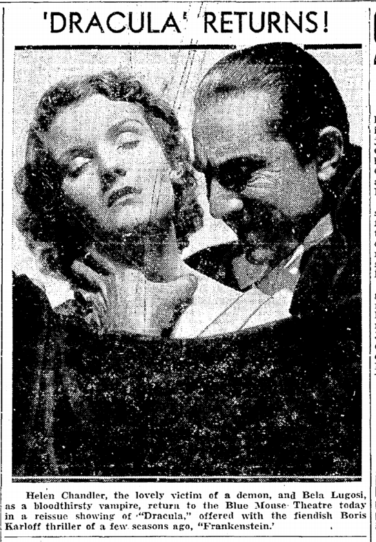 Dracula Frankenstein, Seattle Daily Times, August 24, 1938 2