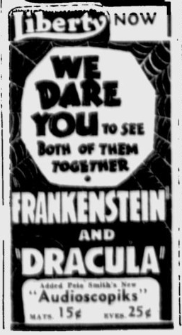 Dracula Frankenstein Spokane Daily Chronicle, September 2, 1938 2