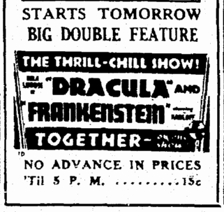 Dracula Frankenstein, The Times-Picayune, February 3, 1939 2