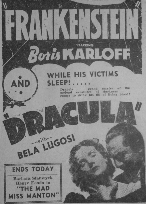 Frankenstein Dracula double bill