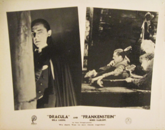 Dracula - Frankenstein 1940s UK Front of House Card2