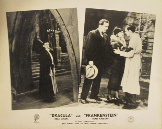 Dracula - Frankenstein 1940s UK Front of House Card 1