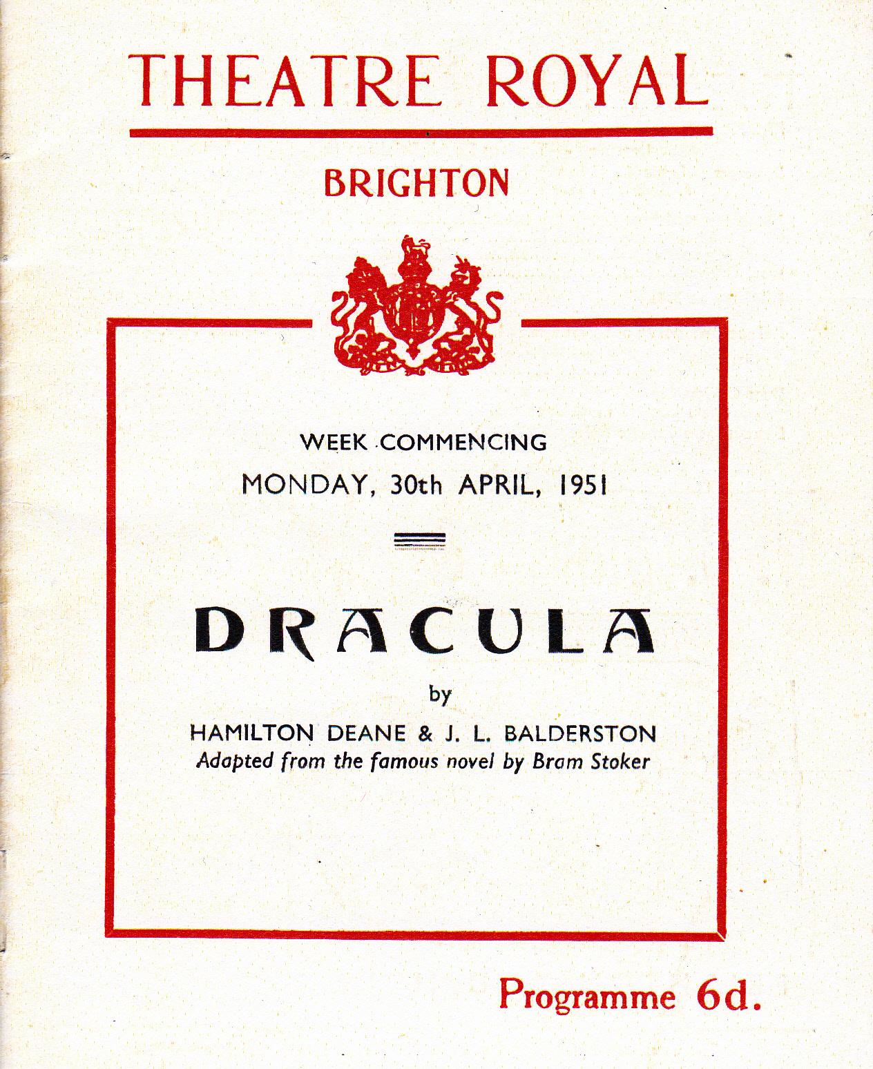 Brighton Programme Cover