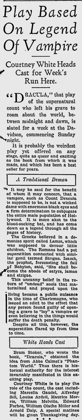 Courtney White Milwaukee Sentinel, November 23, 1930 3