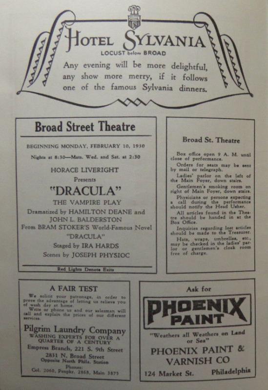 Dracula 1930 Programme 2