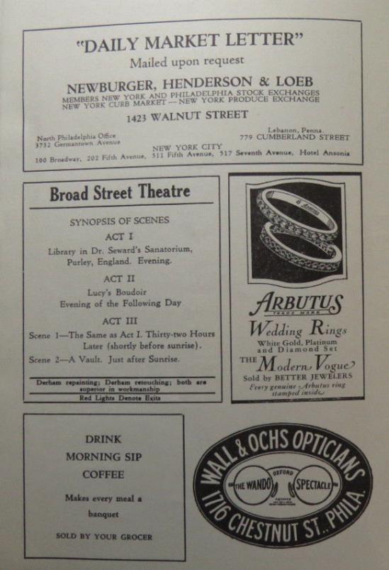 Dracula 1930 Programme 4