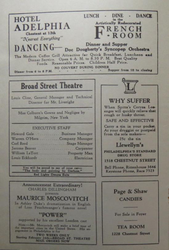 Dracula 1930 Programme 5