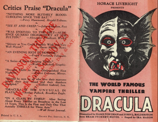 Dracula Davidson Theatre Milwaulke Wisconsin November 23 -28 1930 1