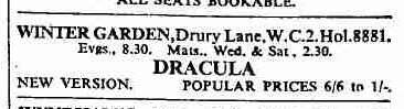Hamilton Deane, Dracula The Times March 21, 1939 2