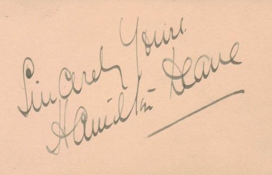 Hamilton Deane autograph