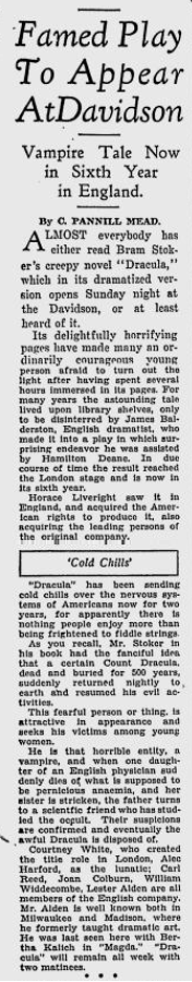 Milwaukee Sentinel Sun April 6, 1930