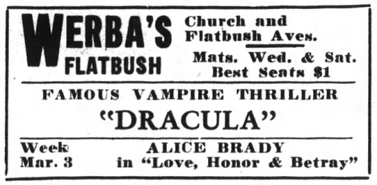 Raymond Huntley, Dracula, Brooklyn Life, February 22, 1930 2