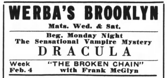Raymond Huntley, Dracula, Brooklyn Life, January 26, 1929 2