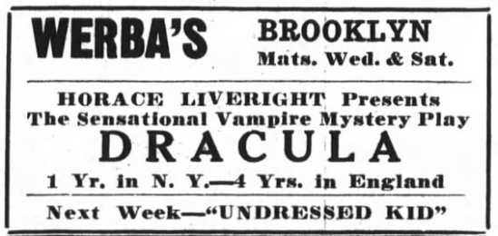 Raymond Huntley, Dracula, Brooklyn Life, October 20, 1928