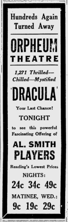 The Reading Eagle, October 14, 1930.ad