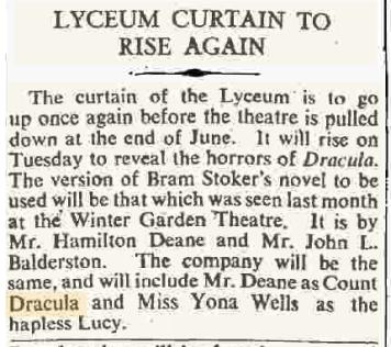 Dracula The Times April 21, 1939
