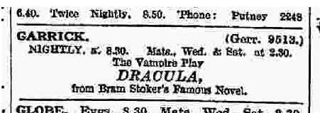Dracula The Times December 12, 1927 b