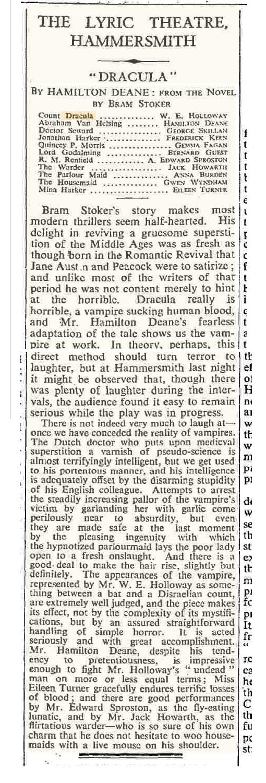 Dracula The Times November 3, 1936