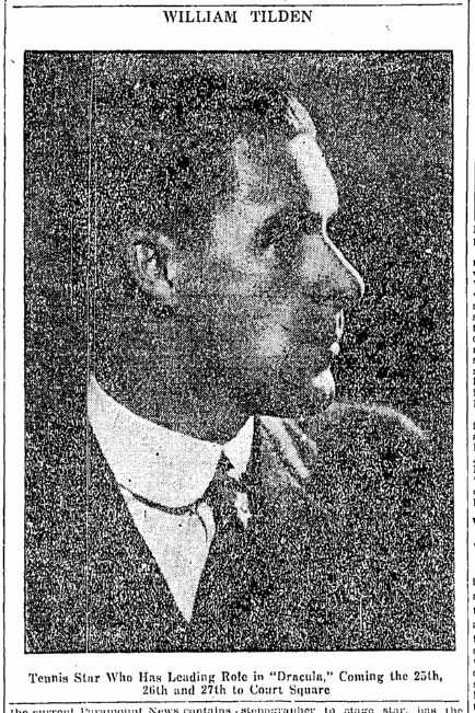 Wiliam T. Tilden 2nd, Springfield Republican, October 14, 1928