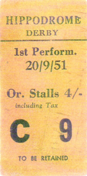 A Derby Hippodrome Ticket