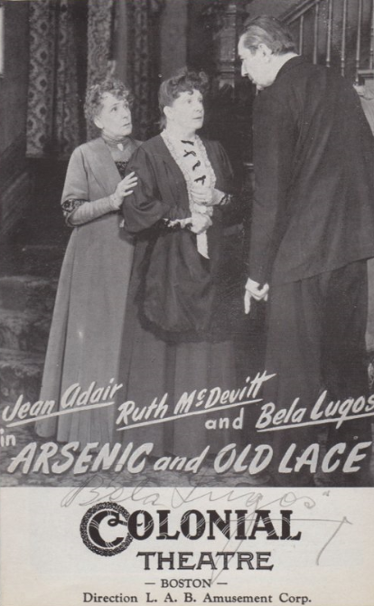 Boston Colonial Theatre Arsenic & Old Lace Programme