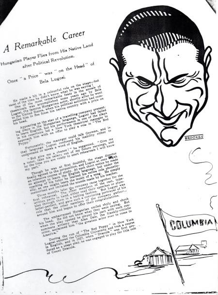 Dracula Sketch 1931