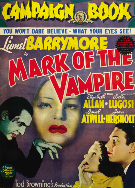 Mark of the Vampire Pressbook