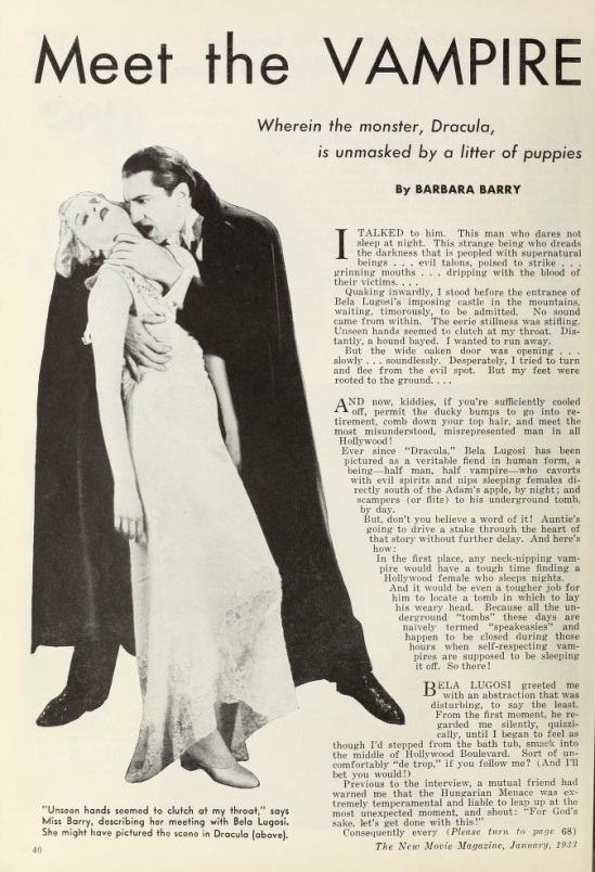 New Movie Magazine, January 1933