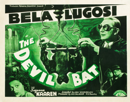 The Devil Bat Half Sheet Poster
