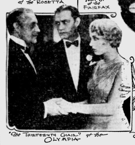 13th Chair, Miami Daily News, October 27, 1929
