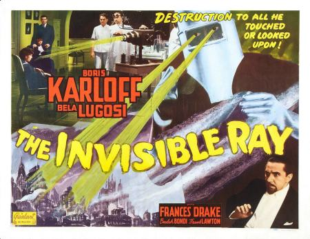 The Invisible Ray 1948 Re-Release Half Sheet