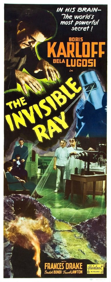 The Invisible Ray 1948 Re-Release Insert