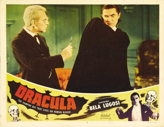 Dracula 1951 Re-Release Lobby Card c