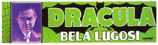 1951 Dracula re-release banner