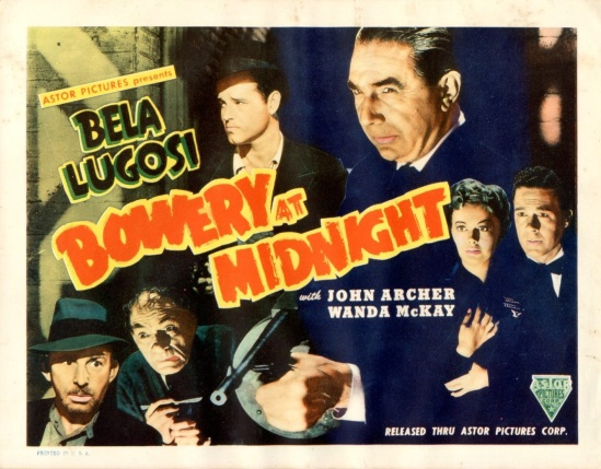 Bowery At Midnight Lobby Card