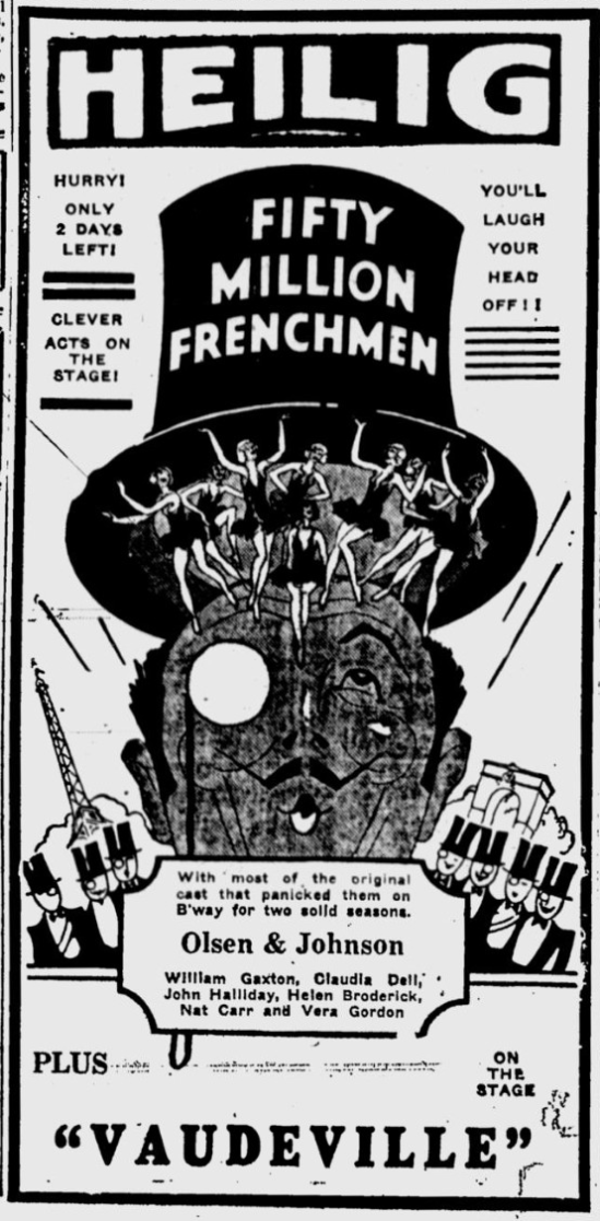 50,000,00 Frenchmen, Eugene Register-Guard, May 22, 1931