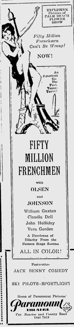 50,000,00 Frenchmen, Palm Beach Daily, March 5, 1931