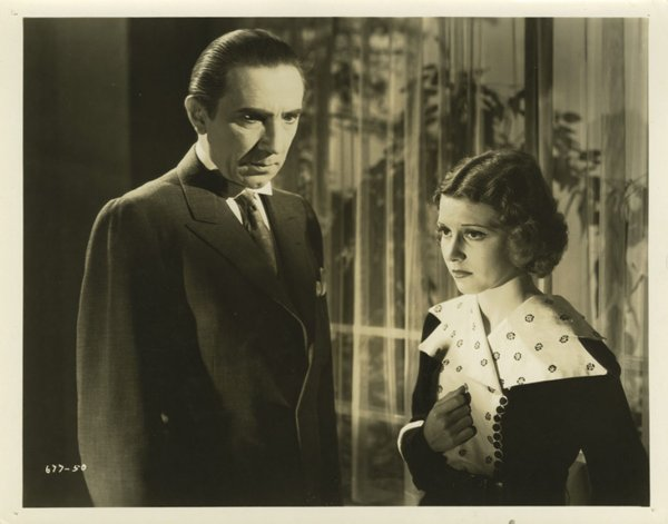 Bela Lugosi and Jacqueline Wells The Black Cat