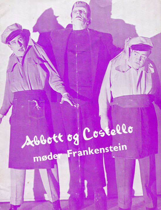 Abbott and Costello Meet Frankenstein Danish programme