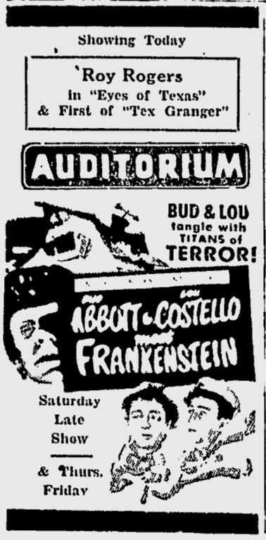 Abbott and Costello Meet Frankenstein, The Dispatch, September 11, 1948