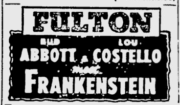 Abbott and Costello Meet Frankenstein, The Pittsburgh Press, August 19, 1948 b