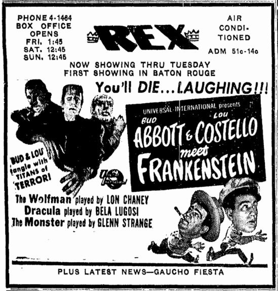 Abbott & Costello Meet Frankenstein, Advocate, August 28, 1948