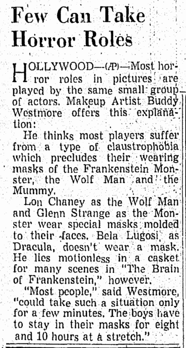 Abbott & Costello Meet Frankenstein, Richmond Times Dispatch, April 25, 1948