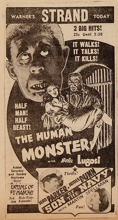 Human Monster Akron Beacon Journal, May 3, 1940